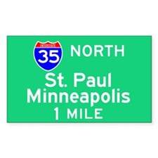 St. Paul Minneapolis MN, Interstate 35 North Stick
