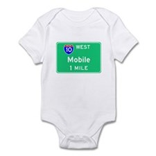 Mobile AL, Interstate 10 West Infant Bodysuit