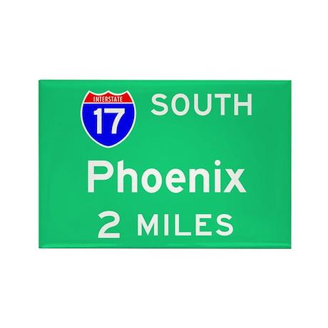 Phoenix AZ, Interstate 17 South Rectangle Magnet