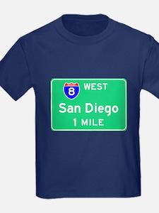 San Diego CA, Interstate 8 West T