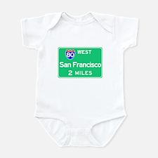 San Francisco CA, Interstate 80 West Infant Bodysu