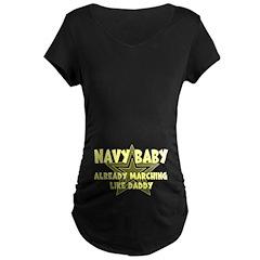 Navy Baby Already Marching Li T-Shirt