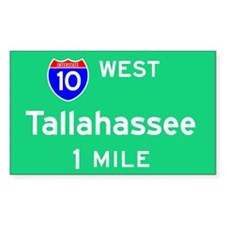 Tallahassee TN, Interstate 10 West Decal
