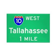 Tallahassee TN, Interstate 10 West Rectangle Magne
