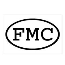FMC Oval Postcards (Package of 8)