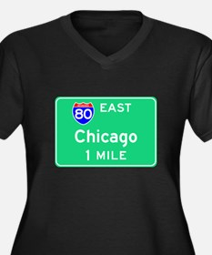 Chicago IL, Interstate 80 East Women's Plus Size V