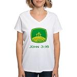 John 3:16 Women's V-Neck T-Shirt