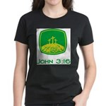 John 3:16 Women's Dark T-Shirt