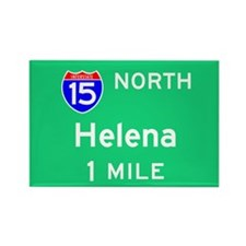 Helena MT, Interstate 15 North Rectangle Magnet