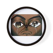 Tears of a Black Man Wall Clock