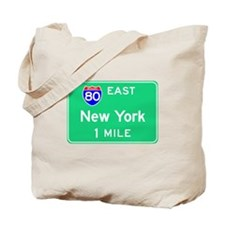 New York NY, Interstate 80 East Tote Bag