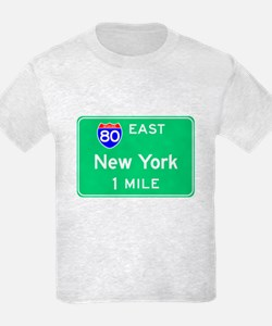 New York NY, Interstate 80 East T-Shirt