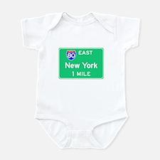New York NY, Interstate 80 East Infant Bodysuit