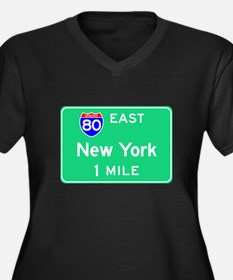 New York NY, Interstate 80 East Women's Plus Size