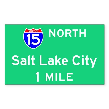 Salt Lake City UT, Interstate 15 North Sticker (Re