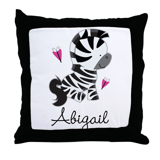 Zoo Animal Pillows : Zebra Zoo Animal Personalized Throw Pillow by PersonalizedShirtsandStuff