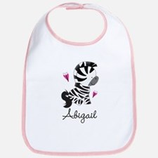 Zebra Animal Personalized Cotton Baby Bib
