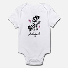 Zebra Animal Personalized Infant Bodysuit
