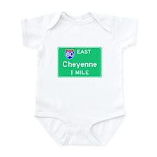 Cheyenne WY, Interstate 80 East Infant Bodysuit