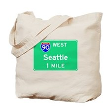 Seattle WA, Interstate 90 West Tote Bag
