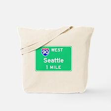 Seattle WA, Interstate 90 West Tote Bag
