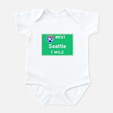 Seattle WA, Interstate 90 West Infant Bodysuit