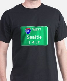 Seattle WA, Interstate 90 West T-Shirt