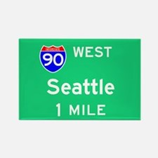 Seattle WA, Interstate 90 West Rectangle Magnet