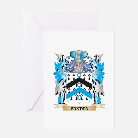 Paxton Coat of Arms - Family Crest Greeting Cards