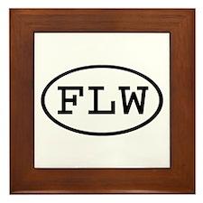 FLW Oval Framed Tile
