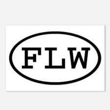 FLW Oval Postcards (Package of 8)