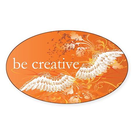 Orange Chakra Oval Sticker