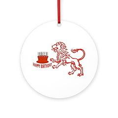 July August Leo Birthday Ornament (Round)