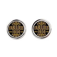 Fabulous Since 1956 Round Cufflinks