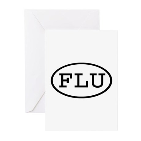 FLU Oval Greeting Cards (Pk of 10)