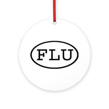 FLU Oval Ornament (Round)