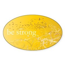 Yellow Chakra Oval Decal