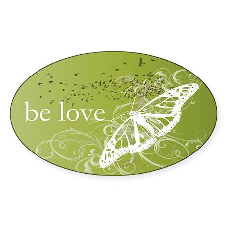 Green Chakra Oval Sticker