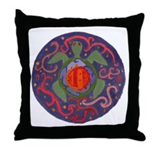 Cosmic Sea Turtle Throw Pillow