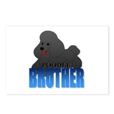 Poodle Brother Postcards (Package of 8)
