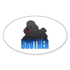 Black Poodle Brother Decal