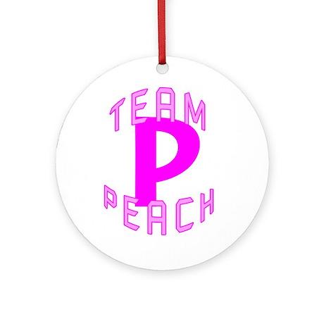 Team Peach Ornament (Round)