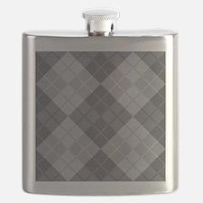 Grey Argyle Flask