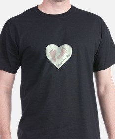 Baby Girl's Name in Heart T-Shirt