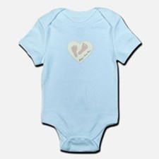 Baby Girl's Name in Heart Infant Bodysuit