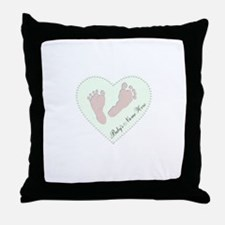 Baby Boys Name in Heart Throw Pillow