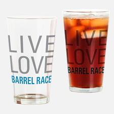 Barrel Race Drinking Glass