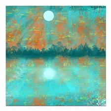 "Land and Moon Square Car Magnet 3"" x 3"""
