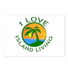 I Love Island Living Postcards (Package of 8)