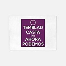 Temblad Casta que Ahora Podemos 5'x7'Area Rug